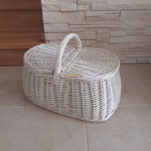 Piknikový kôš bielý