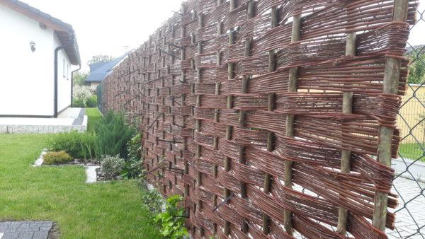 Prútené ploty, panele z prutia