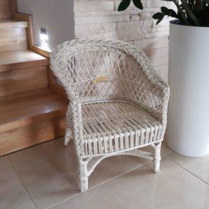 Detská stolička, sedačka biela