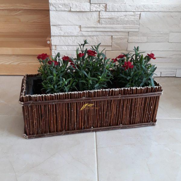 Prútený kôš na kvety, truhlík, kvetináč