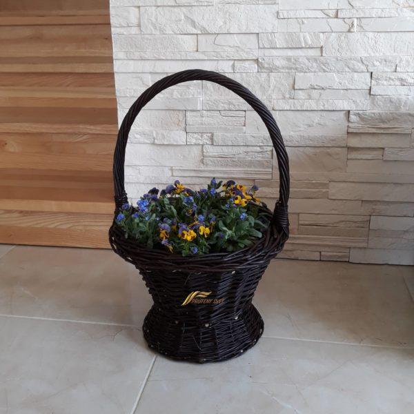 Prútený kôš na kvety kvetináč